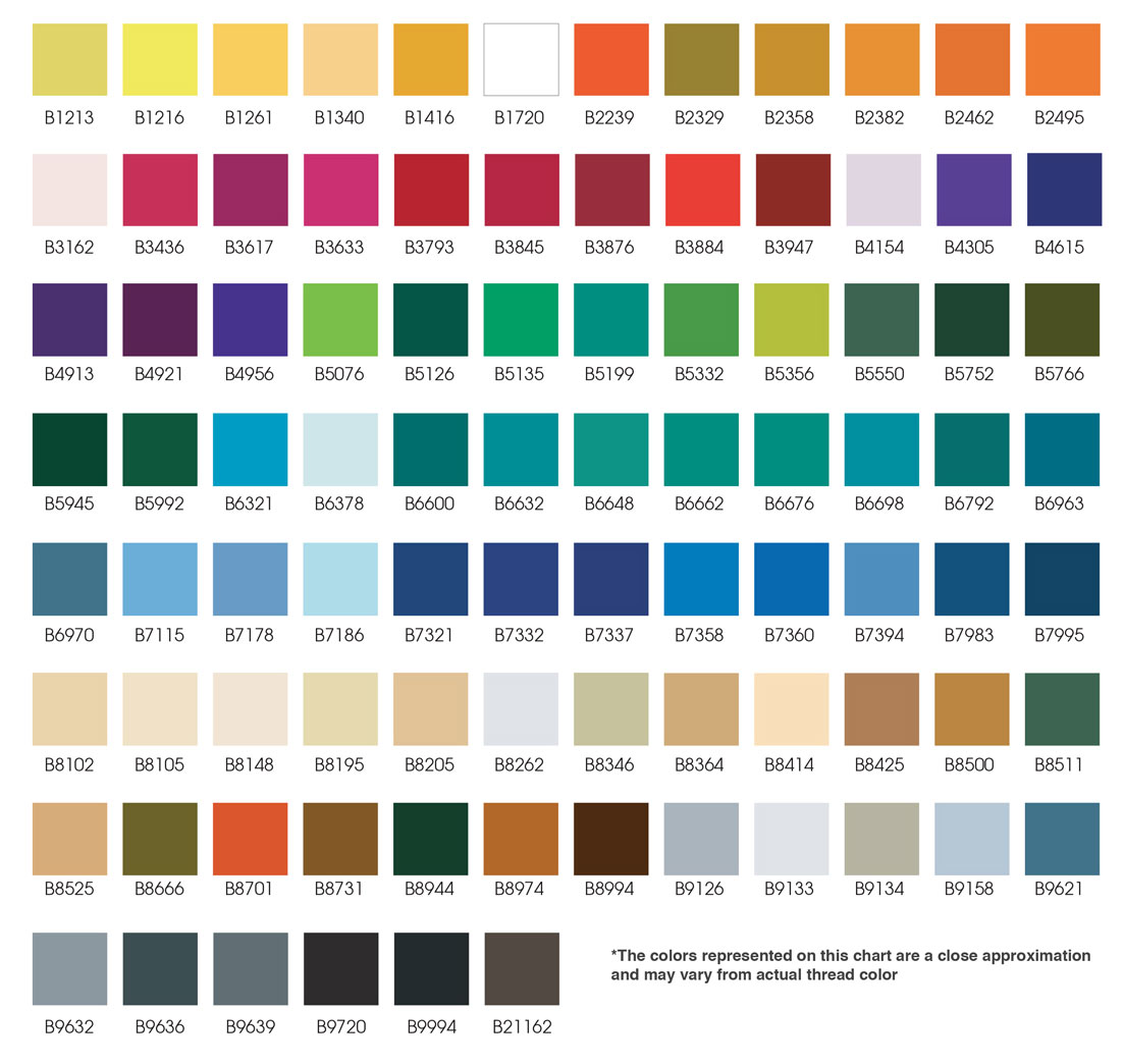Embroidex embroidery thread color chart 2017 2018 cars makaroka embroidery thread colors laurensthoughts leather interiors classic soft trim nvjuhfo Choice Image